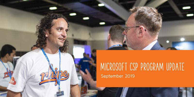 Microsoft CSP Program Update Sept. 2019